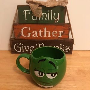 M&M's World 3D Face Green Character Coffee Mug